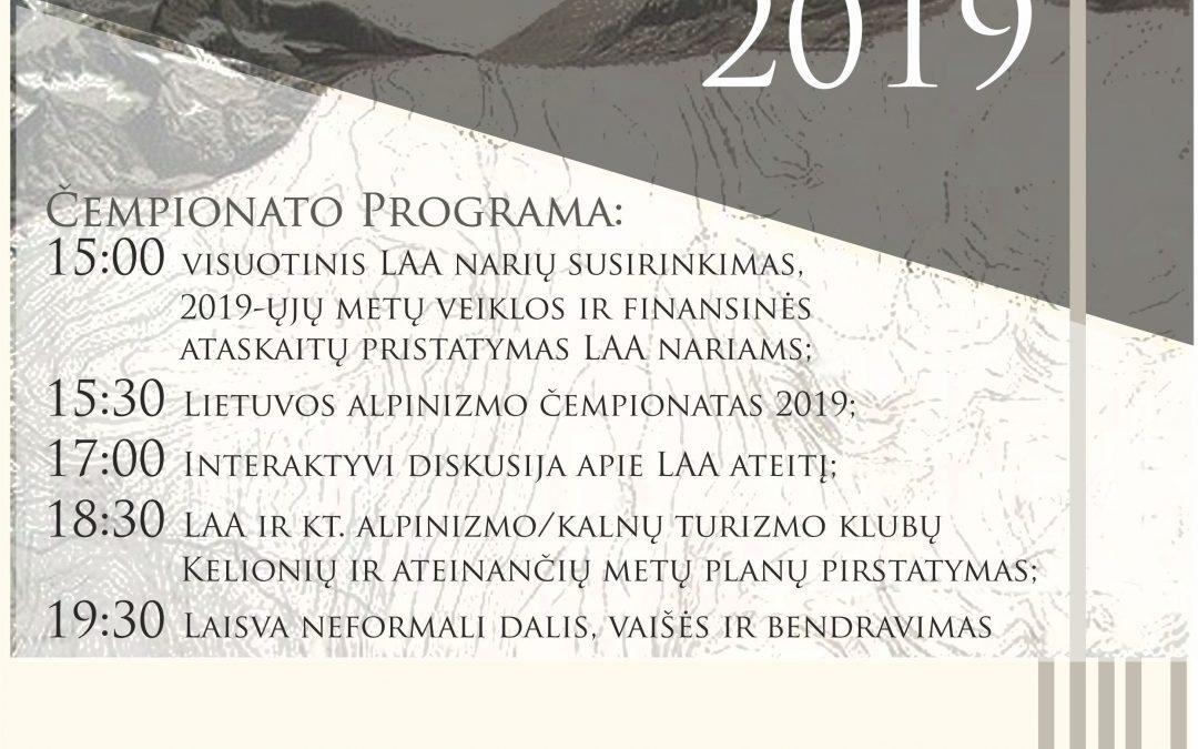 Lietuvos alpinizmo čempionatas 2019